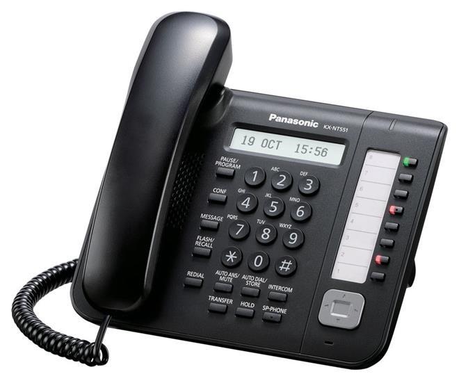 Телефон IP Panasonic KX-NT551RU-B Черный недорого