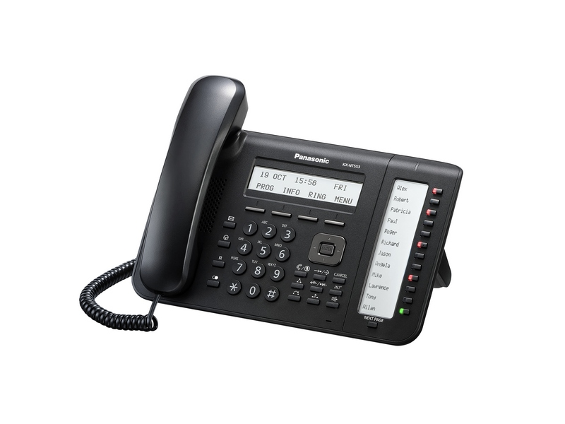 Телефон IP Panasonic KX-NT553RU-B Черный недорого