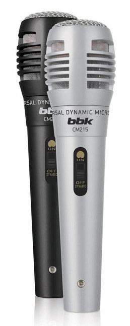Микрофон BBK CM215 Черный серебристый