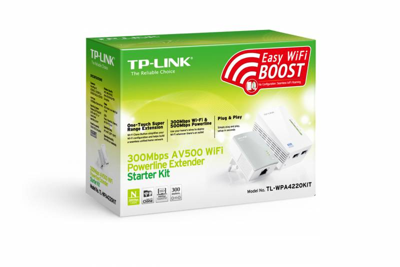 Wi-Fi+Powerline адаптер Tp-Link Wi-Fi+Powerline адаптер TL-WPA4220KIT